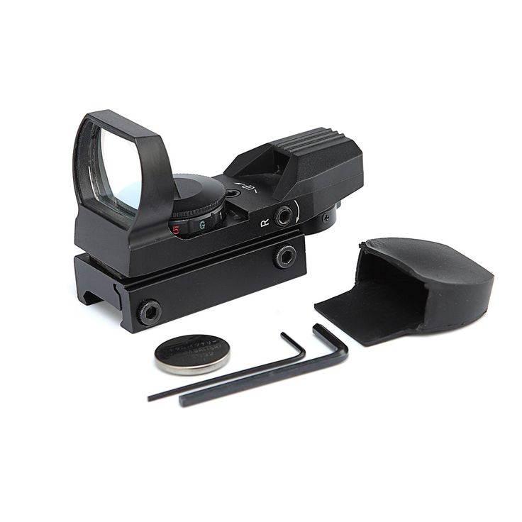 Holographic Red Green Dot Sight Reflex 4 Reticle Red Dot Scope Tactical Scopes Gun Riflescope Hunting Accessories #Affiliate
