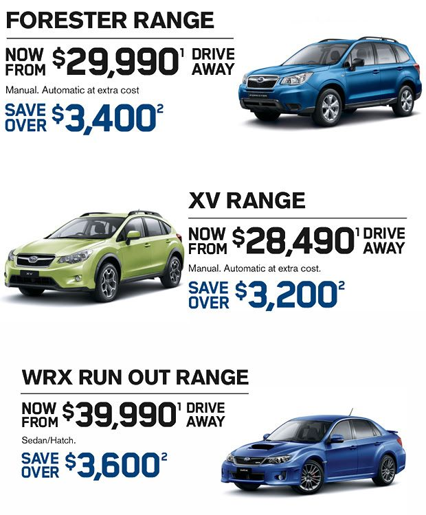Looking to buy an extraordinary Subaru vehicle? It is the time to fulfill your expectations with most popular super models of Subaru, available for you at a suitable value. City Subaru sale is an ultimate gateway to get the car you desire. Hurry Up and visit Subaru sale today to get best deals.  ONLY 4 DAYS LEFT OF OUR SUBARU FEBRUARY SALE.  Visit at:-  http://www.citysubaru.com.au/new-cars/