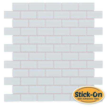 "Peel & Stick Subway Glass Mosaic Tile White is a ""Do it Yourself"" product that combines glass tiles and the latest peel & stick technology suitable for kitchen backsplash. One of the greatest advantages of this self-adhesive tile, it is the ability to lay it on the wall without using any kind of cement or setting material, which is a huge time saver."