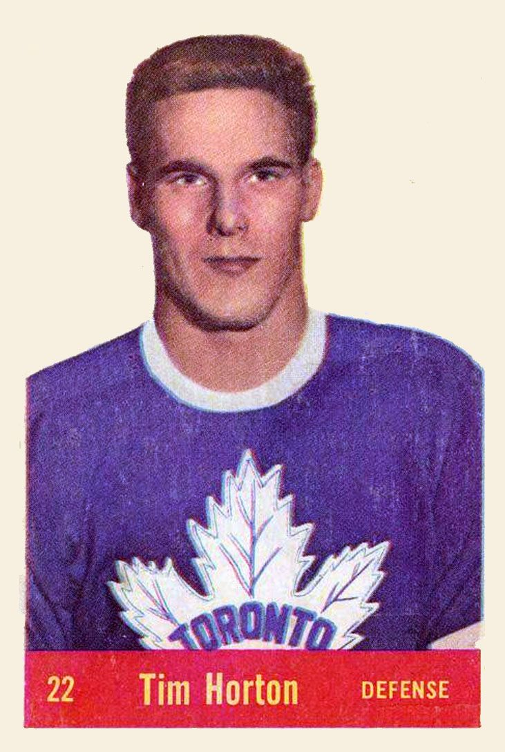 Tim Horton 1957-58 Parkhurst Hockey Card