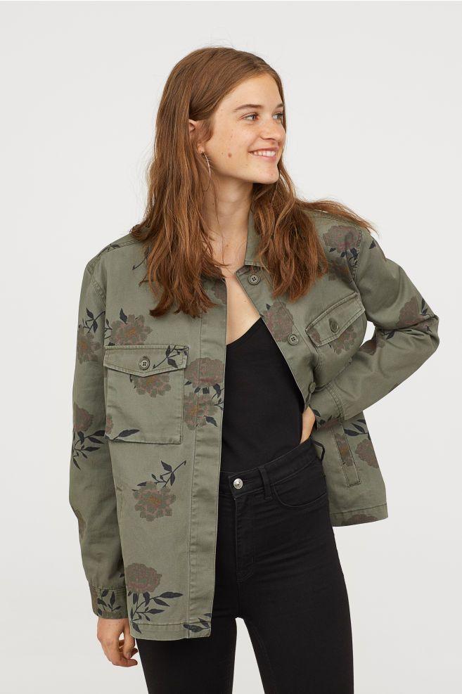 66b8d8e822b49 Patterned Utility Jacket | Outfits et Accessories | Jackets, Khaki ...
