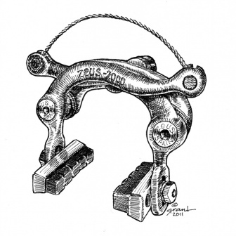 Zeus 2000 Brake Caliper Print. Order at synapticcyles.com