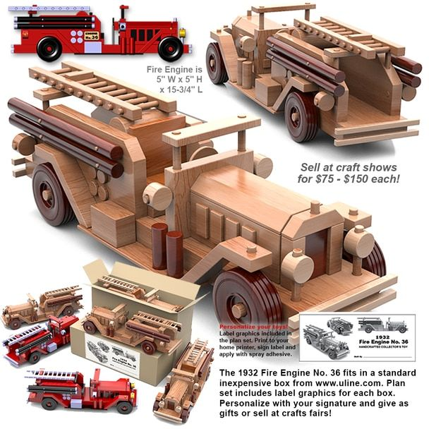 Table Saw Magic 1932 Fire Engine No. 36 Wood Toy Plans ...
