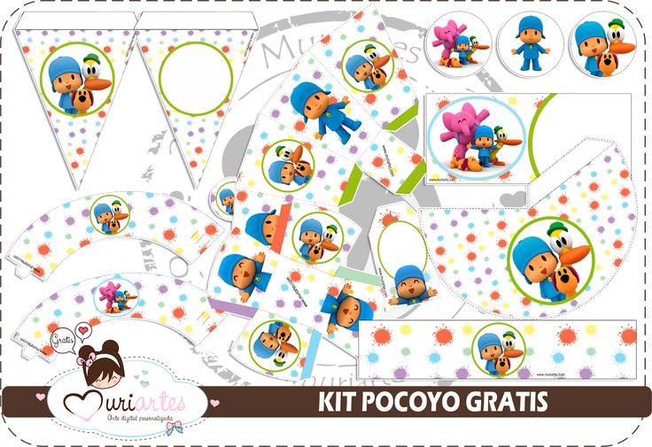 Kit de Pocoyó para Imprimir Gratis. | Ideas y material gratis para fiestas y celebraciones Oh My Fiesta!