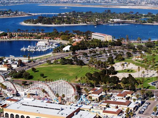 Mission Bay Area in San Diego