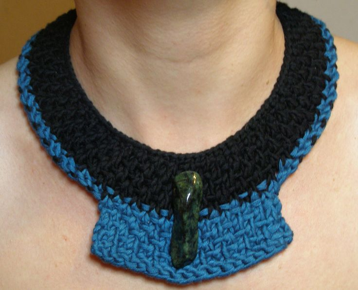 Knitting neclace