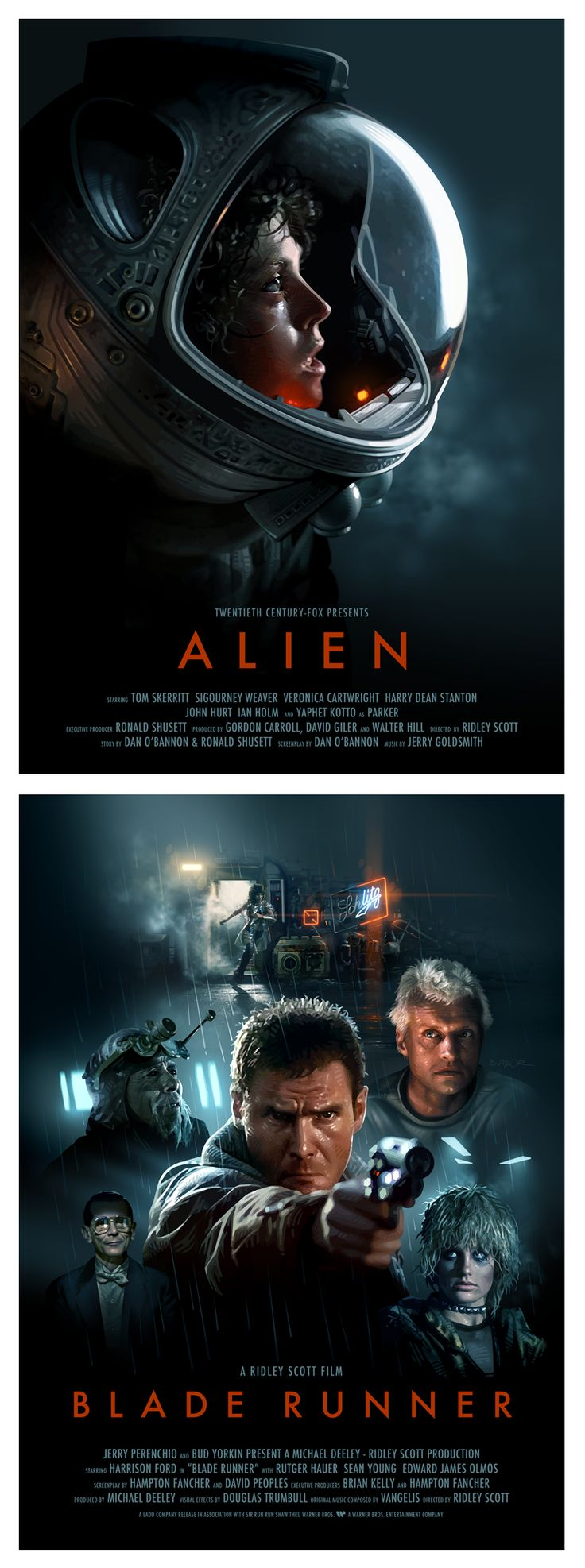 2 amazing films. Definitely would make my ultimate collection! - Alien and Blade Runner Posters