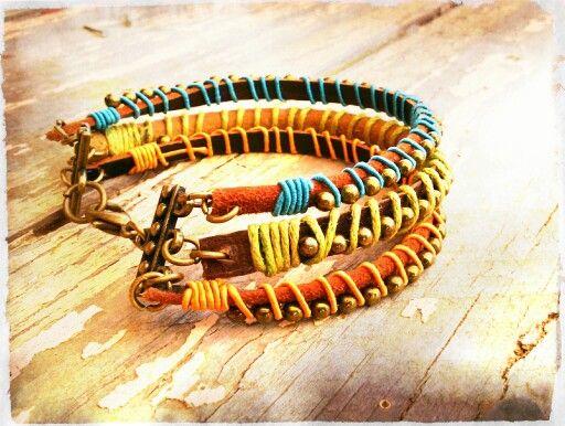 #pulsera #cuero #diseñohechoenchile #diseñohechoamano #bohodesign #bohemiandesign #hippiechic #accesorios #accessories #handmadejewelry #jewelry