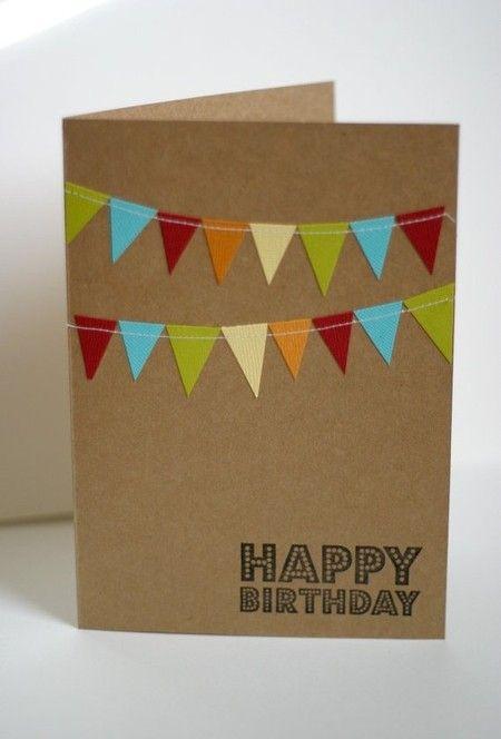 Картинки, открытка с флажками с днем рождения