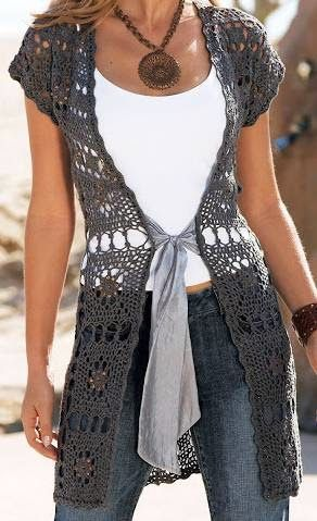 Häkelmuster Fundgrube ärmellose Lange Weste Clothes 4 Uncinetto