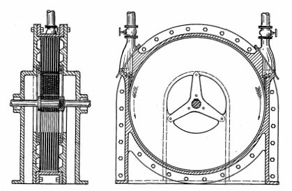 Tesla Turbine: The breadth of his inventions is demonstrated by his patents for a bladeless steam turbine based on a spiral flow principle.  Tesla also patented a pump design to operate at extremely high temperature.