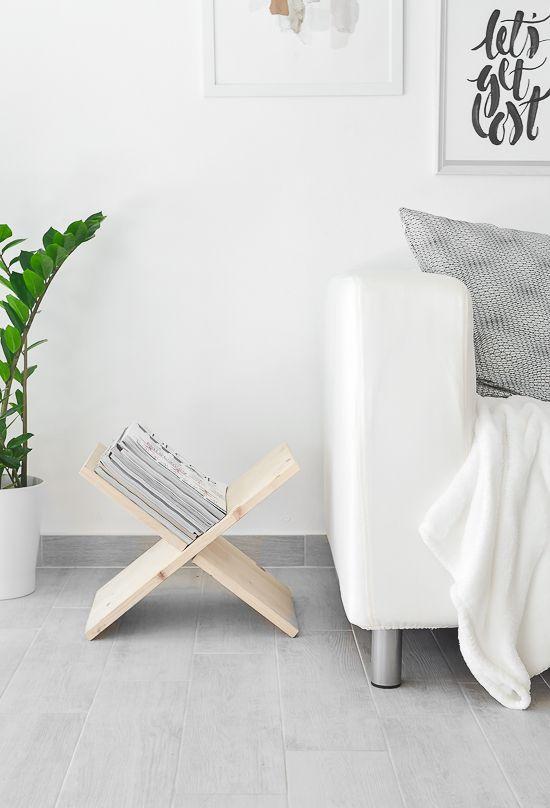 DIY Wooden Magazine Holder | DIY selber machen: Zeitungsständer aus Holz