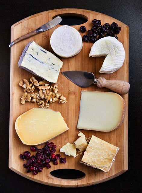 Cheese boards! Can also be combined w/ Chocolate for a dessert. Very cool! Great way to use a cheeseboard!