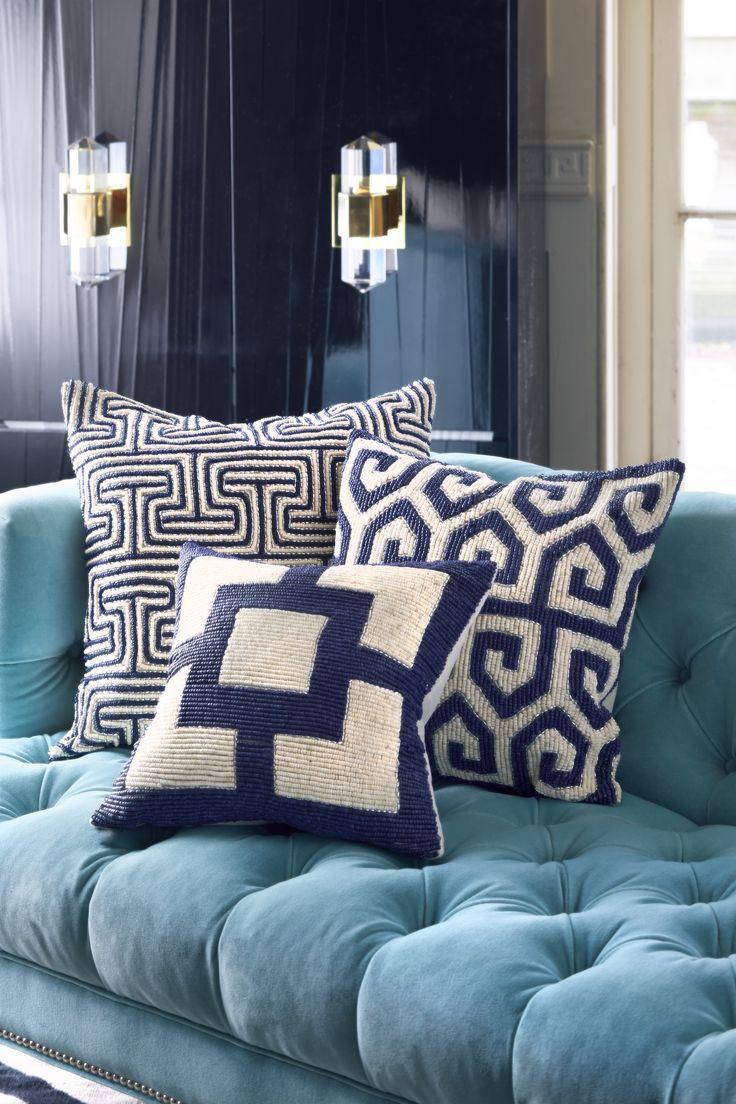 Navy Blue Accent Pillow
