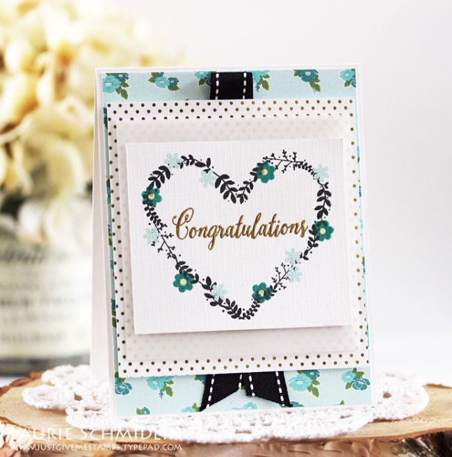Congratulations Card by Laurie Schmidlin for Papertrey Ink (December 2016)