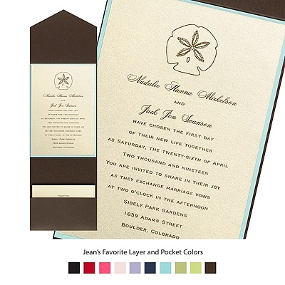 champagne shimmer layered invitation with pocket from michaels - Michaels Wedding Invites