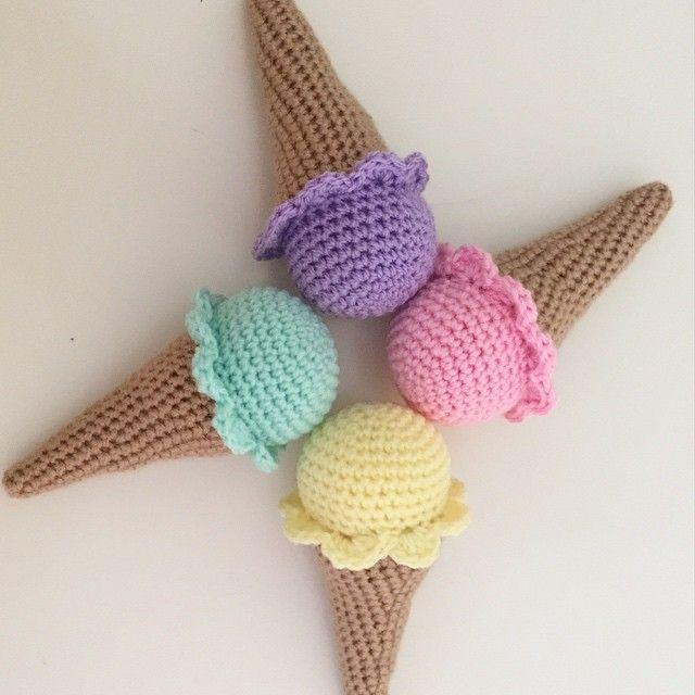 Amigurumi Ice Cream Cone Free Pattern : 556 best images about AMIGURUMI FRIENDS & CROCHET (SECOND ...