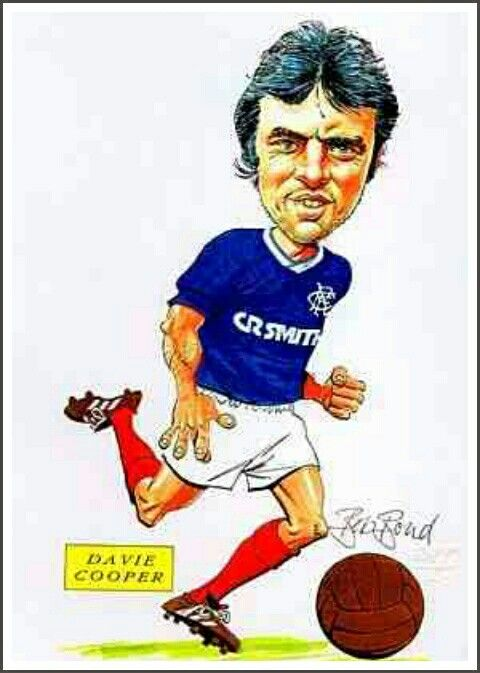 Davie Cooper of Rangers in cartoon mode.