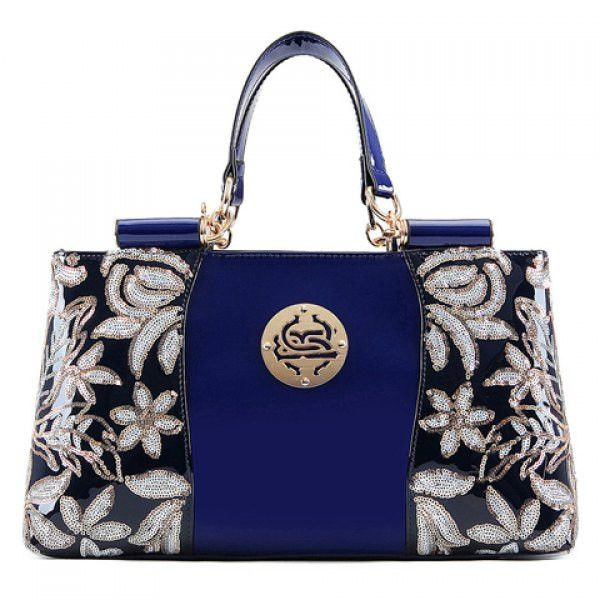 Sequined Flower Tote