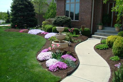 """Hardwood mulch that has been screened to make smaller particles is called """"fines."""" It composts quickly, which makes it a great soil additive.: Yard Landscape, Dark Color, Landscape Mulches, Mummze Yard, Perfect Landscape, Front Yards, Mulches Landscape Rocks, Landscape Ideas, Photo"""