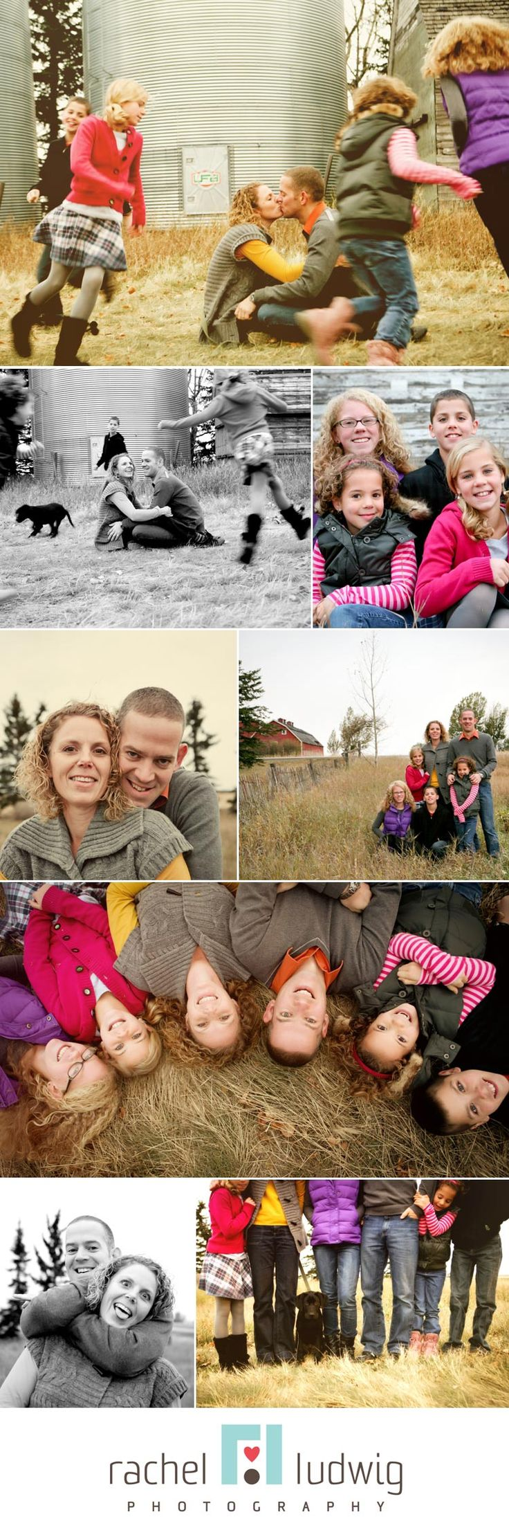 My favorite collection!!!! It's got it all: mix of color and black & white, nature  backdrop with warm grass colors, farm connection, colorful clothing accents, kids in motion, family pet, different perspective shots, playful shots. This grouping has it all covered !!!!