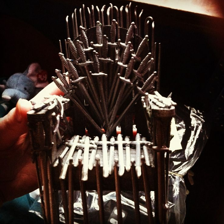 Homemade Game Of Thrones Chair Cocktail Swords And Small