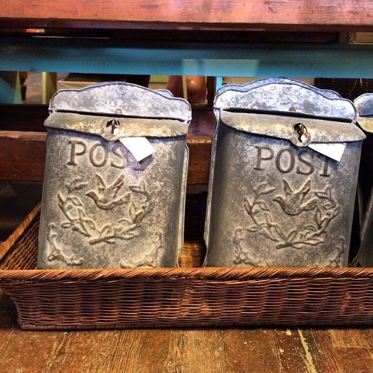Such fun vintage style mail boxes! Available at the Cartolina store! We ship everywhere - every day! Follow us on Instagram and Facebook. www.cartolina.com