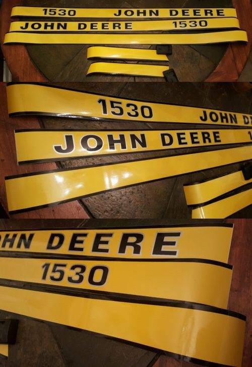 heavy equipment: New Hood Decal Set Made For John Deere Tractor 1530 BUY IT NOW ONLY: $30.0
