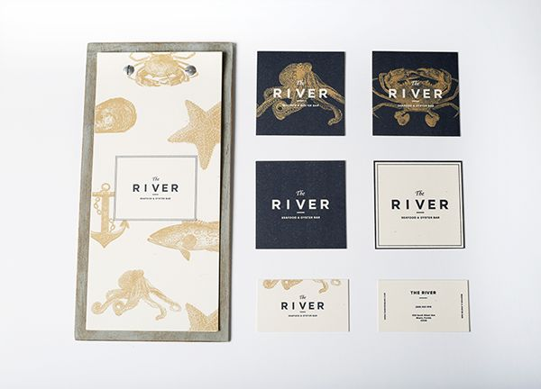 The River restaurant branding #gritsandgrids