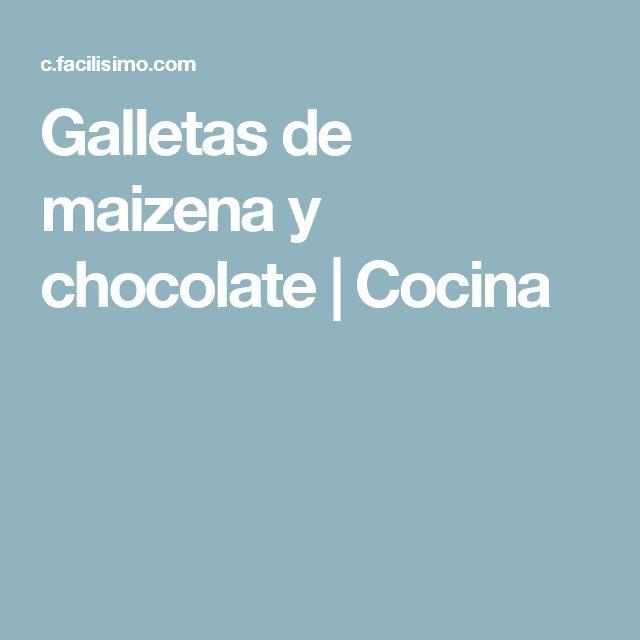 Galletas de maizena y chocolate | Cocina