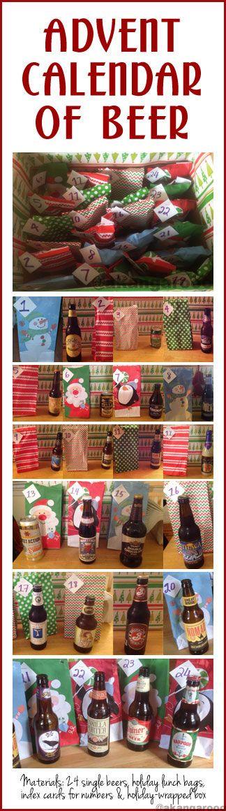 Homemade Advent Calendar Ideas For Boyfriend : Beer advent calendar adventcalendar