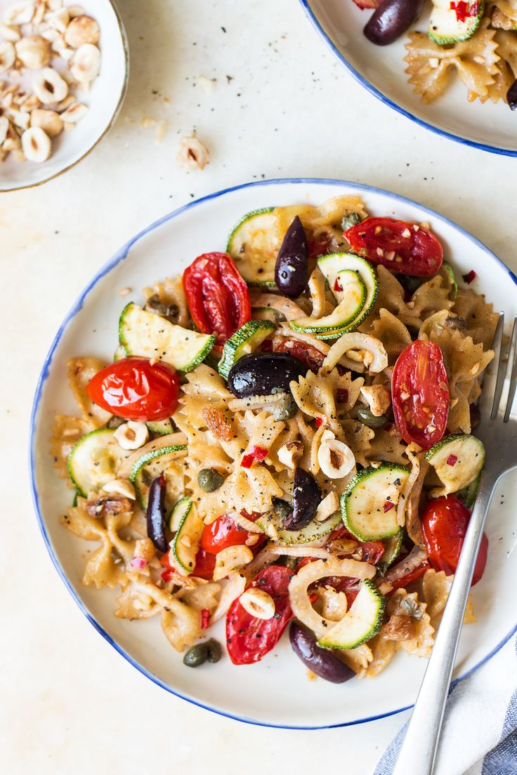 Vegan caper pasta is a simple, mid-week pasta dish seasoned with capers and full of beautiful summer veggies sauteed in garlic and a touch of chilli.
