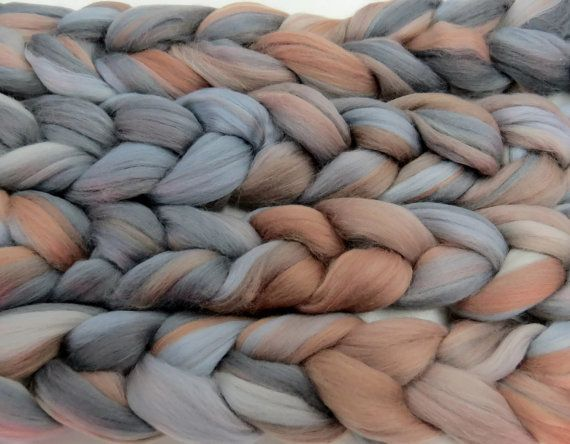 Superfine merino wool roving 19 microns 4 oz,Tempera Collection ( Dancing Lessons)