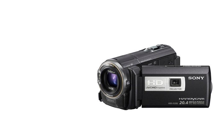 Sony HDR-CX580V Camcorder with projector built-in!  Watch your videos and pics instantly projected on a screen...up to 100 inches diagonally!