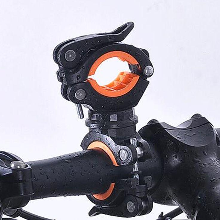 360度回転サイクリングバイク自転車懐中電灯トーチマウントledヘッドフロントライトホルダークリップ自転車アクセサリー