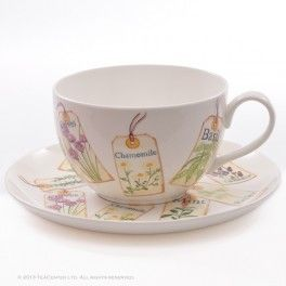 """""""Herbs"""" cup and saucer"""