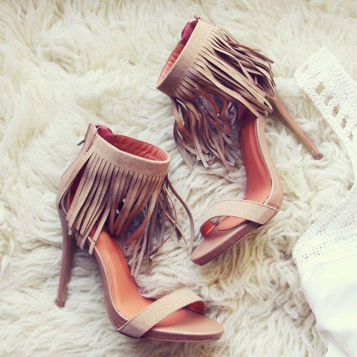 68 Mode femmes favorate élégant cheville wrap chaussures beige en daim tassel ornements gladiateur sandales à talons hauts dans Ballerines pour femmes de Chaussures sur AliExpress.com | Alibaba Group