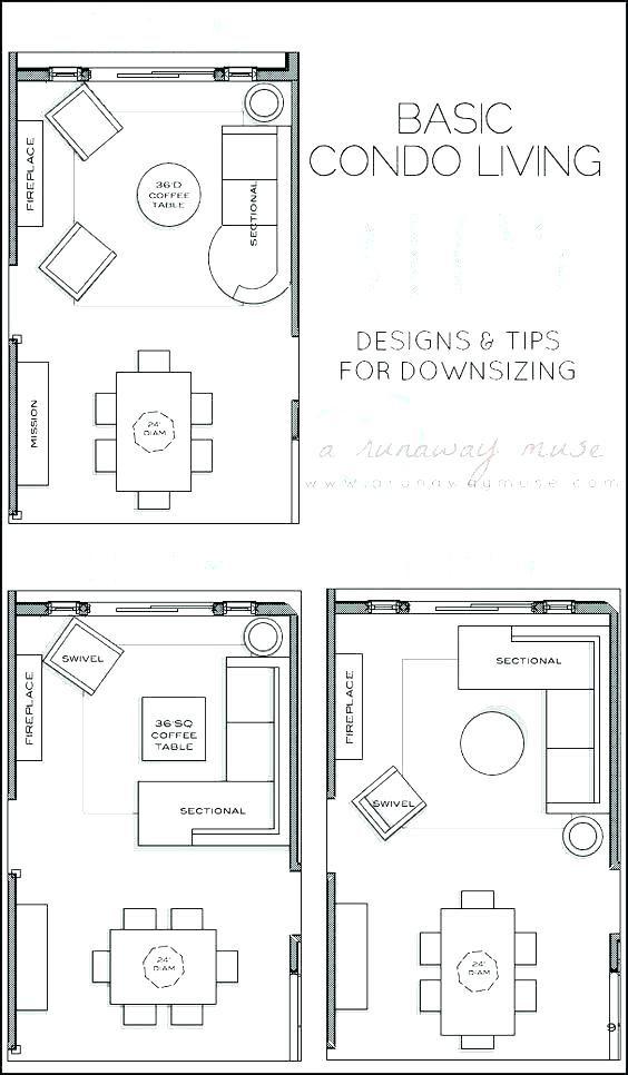 Rectangular Room Furniture Arrangement Layout For Living Outline