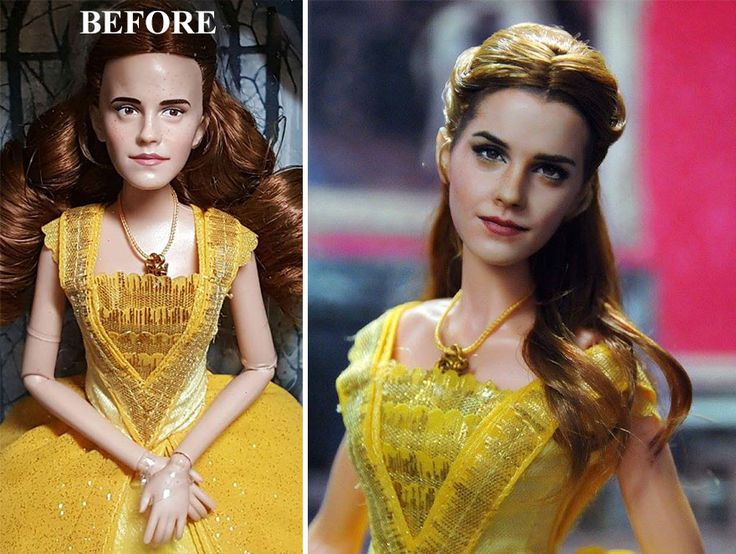 Best Emma Watson Belle Doll Ideas On Pinterest Beauty And - Artist repaints disney princesses to look more realistic with amazing results