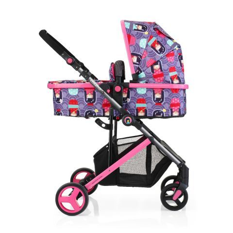 Baby 2 In 1 Travel System Toddler Pram Pushchair And Car Seat Carrier Girls Pink
