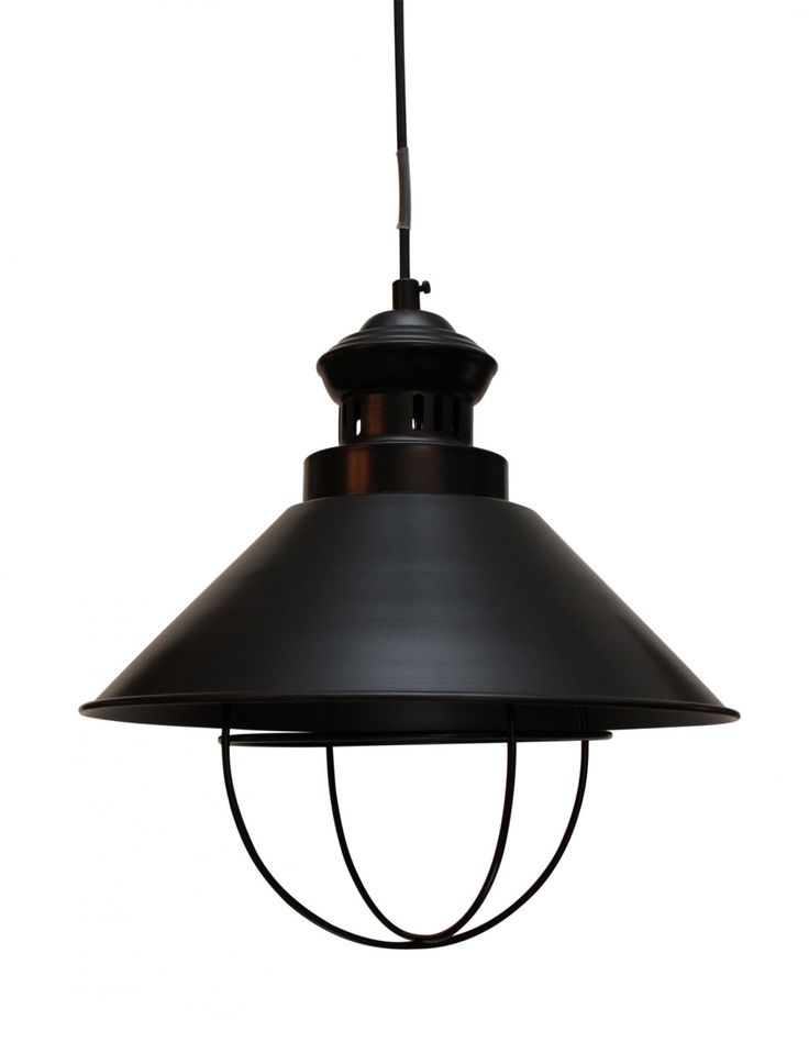 Inspired by the classic cargo hold lanterns of yesteryear, our Cole Lighting Collection features a smooth matt black finish. Feature the pendant over a kitchen bar or dining table mixed with industrial or rustic French farmhouse furniture.  	   	NB This item is due June 2014. With limited stock, we recommend forward ordering to avoid disappointment