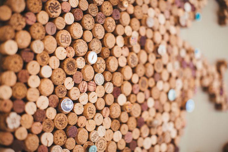Home made cork board.