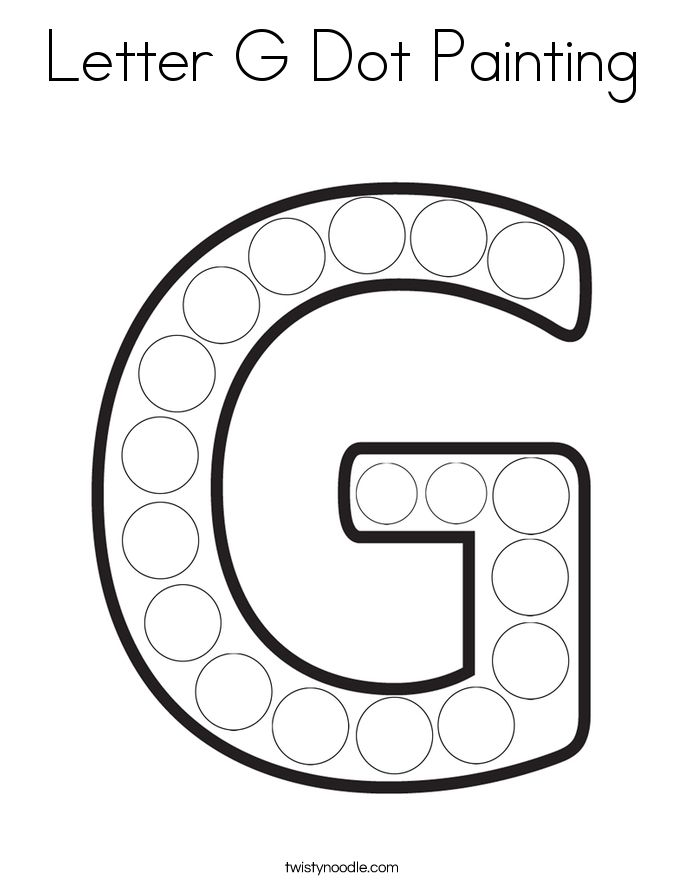 Letter G Dot Painting Coloring Page - Twisty Noodle in ...