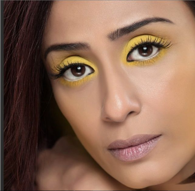 Achint who is wearing this beautiful sunshine #yellow on the eyes!!! Nothing like a splash of surprising chroma in the season of romantic rains of #INDIA.