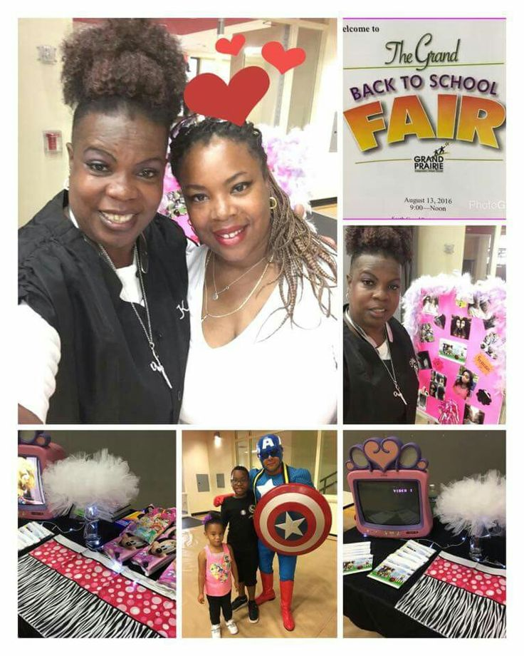 2016, GIVING BACK TO THE COMMUNITY & PROMOTING @ GPISD BACK TO SCHOOL FAIR, TANESHA & ME REPRESENTING KELLYS HAIR DESIGNZ