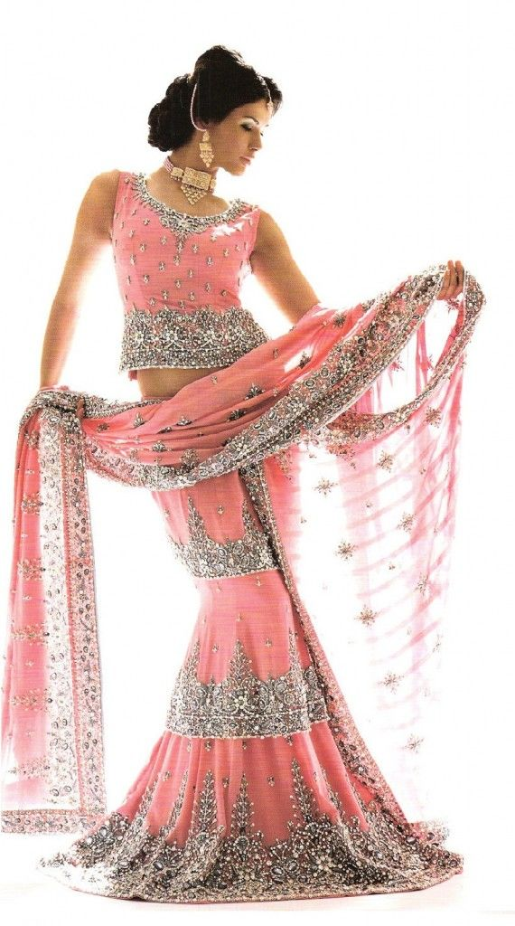 Lengha #indian #bridal Like us on https://www.facebook.com/beautagonal?ref=tn_tnmn