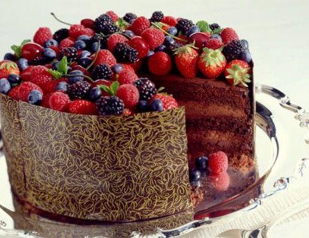 Triple-Chocolate Celebration Cake Recipe
