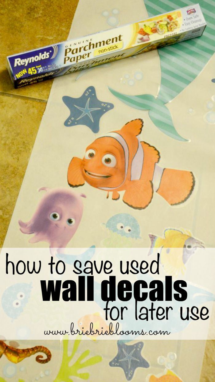 Learn how to save used wall decals for later use with parchment paper!