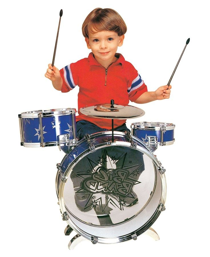 Introduce your child to the world of music with the Big Band Toy Drum Set! This awesome real life drum set is a fun and great way to inspire your little one! This set is the perfect introduction to musical instruments! Who knows, this might be the first stepping stone that sparks a love of music for your child! The Big Band Toy Drum Set comes with almost everything an expensive drum set has, like a Bass Drum, a small tom tom, a large tom tom, a cymbal, a pedal, drumsticks and a stool. So…