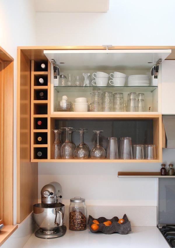grey white and warm vertical grain fir wood modern kitchen - Modern Kitchen Cabinets Images